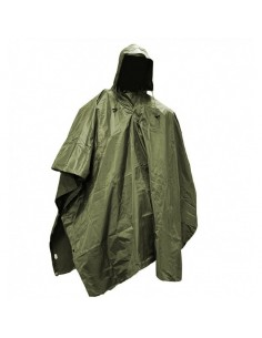 Army Hunting Hiking Waterproof Poncho Ripstop Olive 10630001
