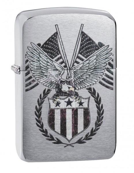 Original Zippo Lighter Replica 1941 American Eagle Brushed Chrome 29093