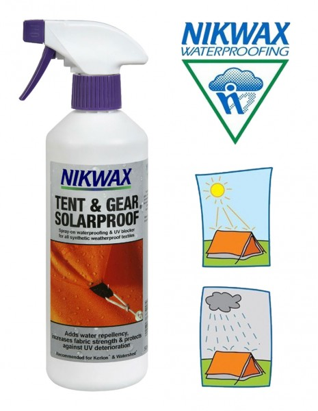 Nikwax Tent Gear Solarproof Waterproof Spray NIK101 Sale