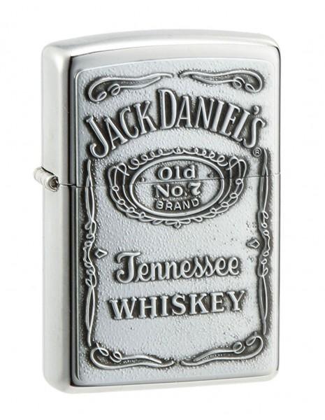 Zippo Lighter Jack Daniels Amblem Silver 254BJD 427