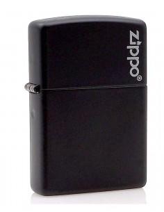 Original Zippo Lighter Black Matte Zippo Logo 218ZL