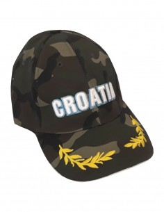 Kids Camouflage Baseball Visor Cap Woodland Croatia