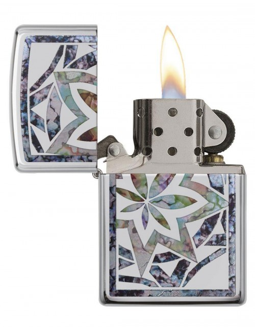 Original Zippo Upaljač Fusion Leaf High Polish Chrome 29727