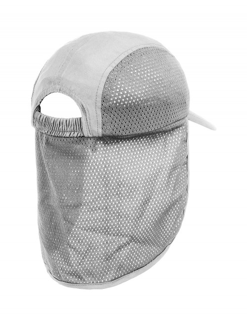 Mesh Cap With Neck Protection White