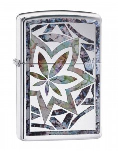 Zippo Lighter Fusion Leaf High Polish Chrome 29727