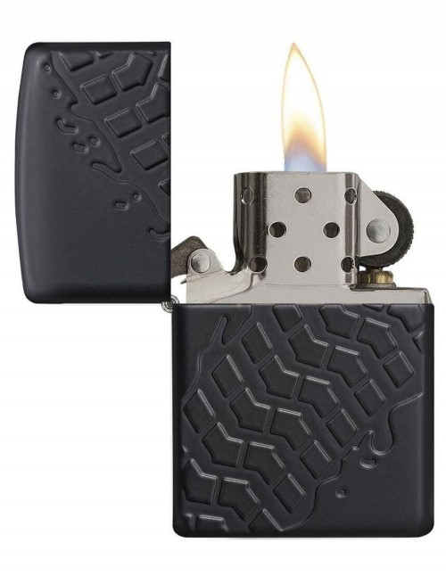 Zippo Lighter Tire Tread Armor Black Matte 28966