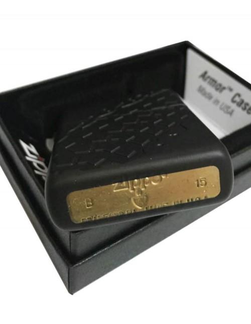 Zippo Lighter Tire Tread Armor Black Matte 28966
