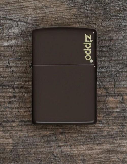 Original Zippo Lighter Classic Brown Zippo Logo 49180ZL