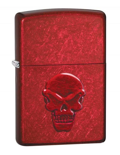 Original Zippo Upaljač Doom Skull Candy Apple Red 21186