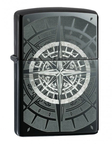 Original Zippo Lighter Black Ice Compass 29232