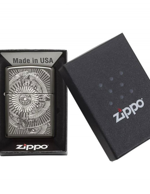 Original Zippo Upaljač Black Ice Asian Floral 29421
