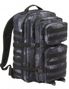 Brandit Camping Hiking Army Molle Backpack US Cooper Large 40 Liter Night Camo