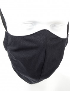 Double-layer Washable Teflon Protective Mask Black