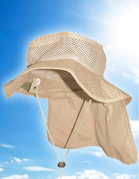 Bushcraft Ljetni Pustinjski Šešir S Kristalima Za Hlađenje UV Zaštita