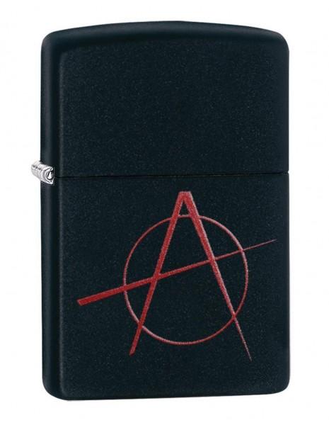 Original Zippo Lighter Anarchy Black Matte 20842