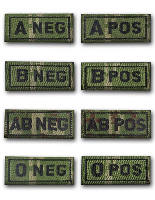 Patch Velcro Blood Type Cropat