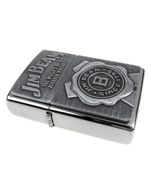 Original Zippo Upaljač Jim Beam Emblem 03 Brushed Chrome 29829