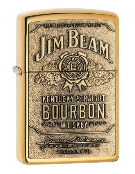 Zippo Lighter Jim Beam Amblem Brass 250JB929
