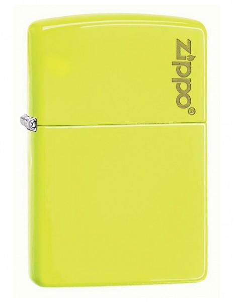 Original Zippo Upaljač Neon Yellow Zippo Logo 28887ZL