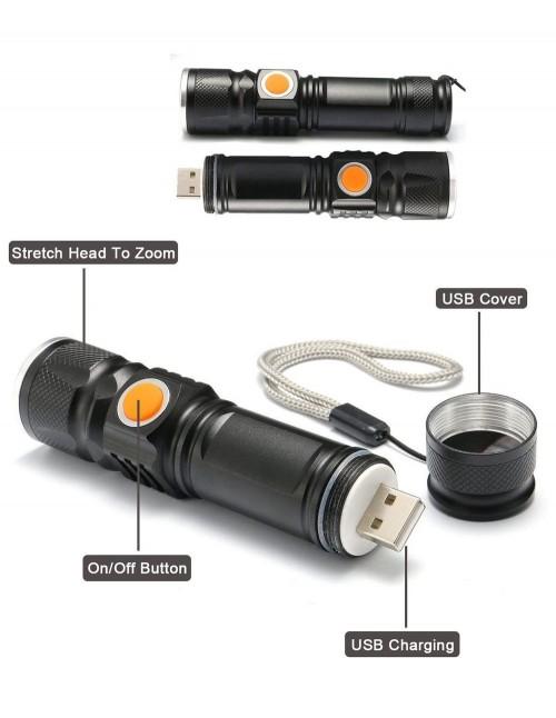 Baterijska Lampa FA-515 USB