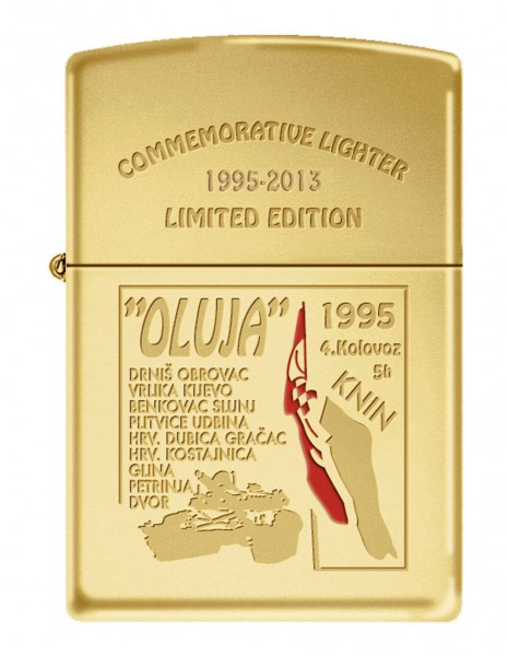 Limited Edition Zippo Upaljač Oluja 95-2013 High Polish Brass