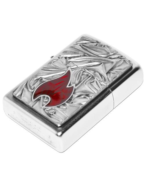 Zippo Upaljač Soft Zippo Flame Satin Chrome EU Edition