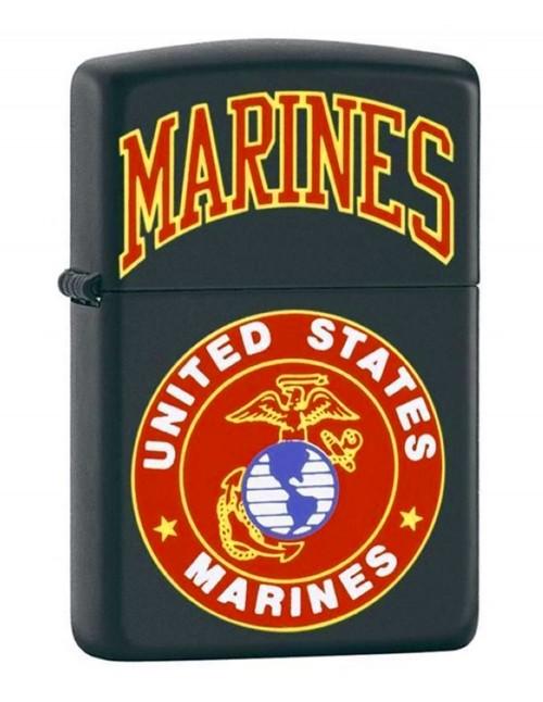 Original Zippo Upaljač Black Matte US Marines 218539