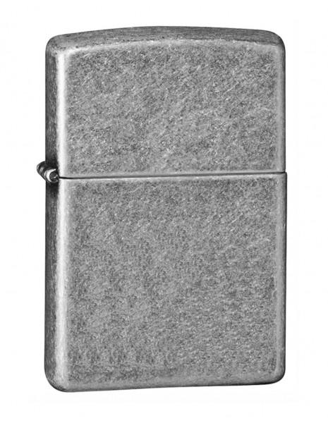 Original Zippo Lighter Antique Siver Plate 121FB
