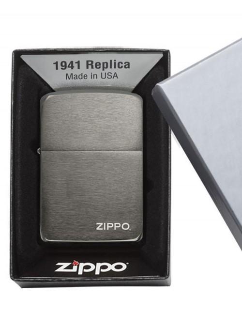 Original Zippo Upaljač Replica 1941 Black Ice Zippo Logo 24485
