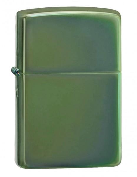 Original Zippo Lighter Chameleon Green High Polish Chrome 28129