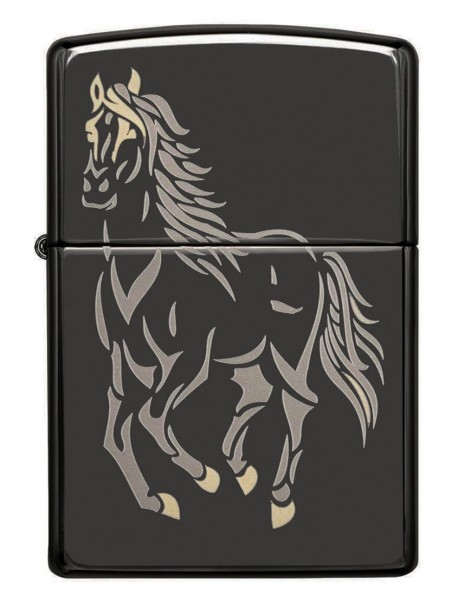 Original Zippo Upaljač Black Ice Running Horse 28645