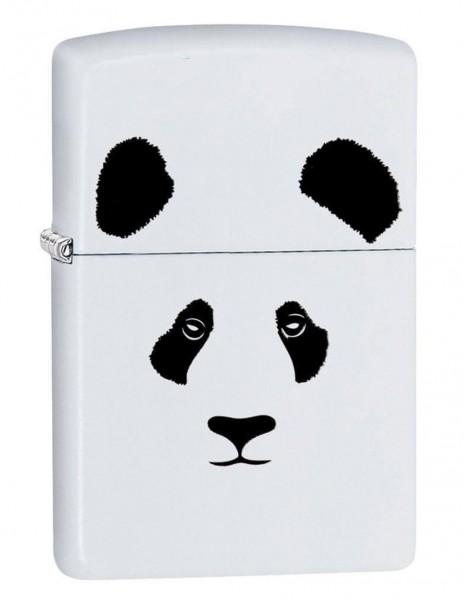 Original Zippo Lighter White Matte Panda 28860