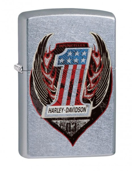 Original Zippo Lighter Street Chrome Harley-Davidson® Wings One 29347