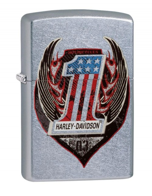 Original Zippo Upaljač Street Chrome Harley-Davidson® Wings One 29347