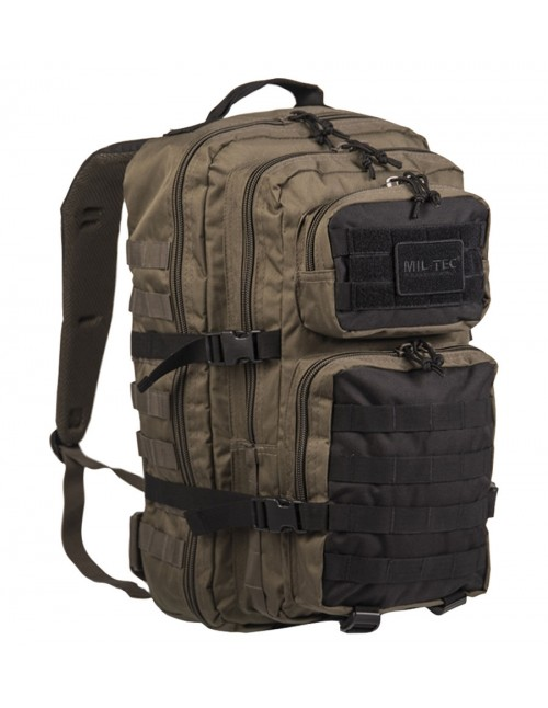 Miltec Outdoor Camping Hiking Hunting Army Backpack Assault 36l Green/Black 14002301