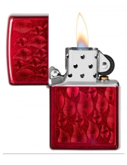 Zippo Lighter Iced Zippo Flame Design 29824