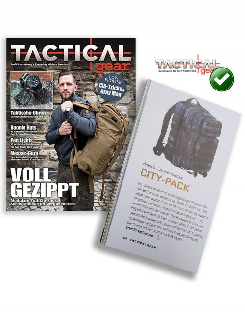Brandit Camping Hiking Army Molle Backpack US Cooper Medium Black