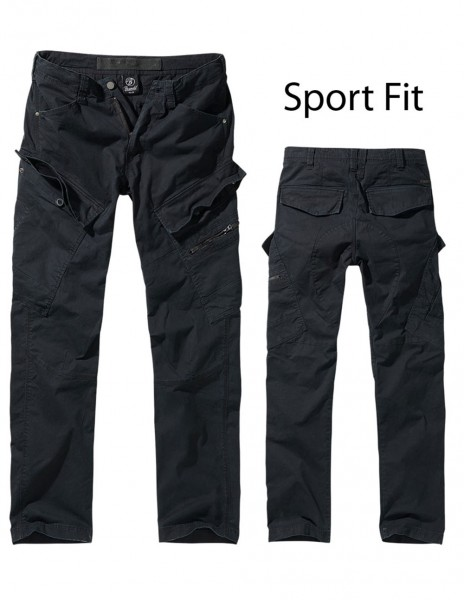 Brandit Adventure Slim Fit Outdoor Trousers Black 9470