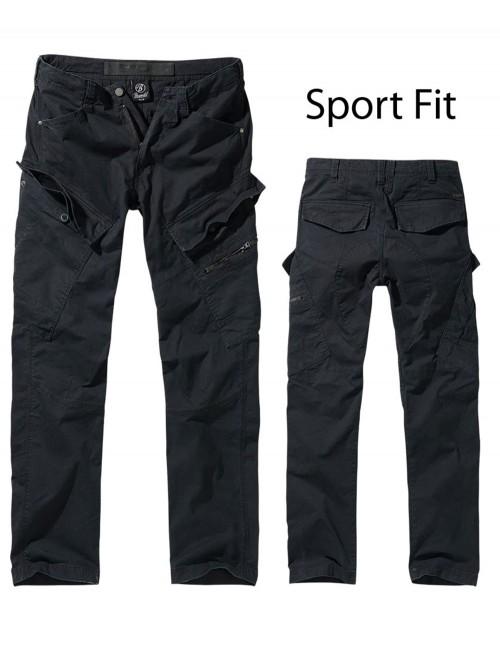 Brandit Adventure Slim-Fit Planinarske Outdoor Hlače Black 9470