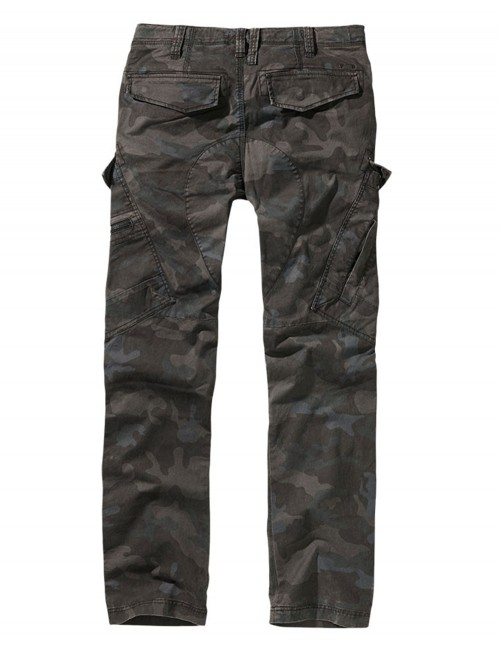 Brandit Adventure Slim-Fit Planinarske Outdoor Hlače Dark Camo 9470