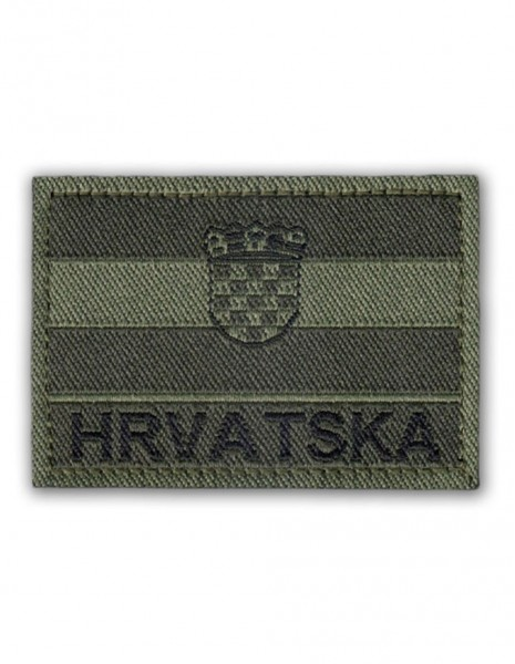 Military Army Patch Hrvatska Subdued Folia