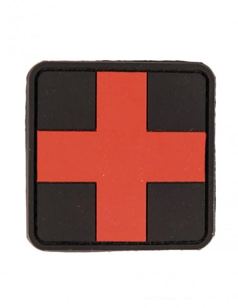 3D PVC Patch Velcro First Aid Black 16830402
