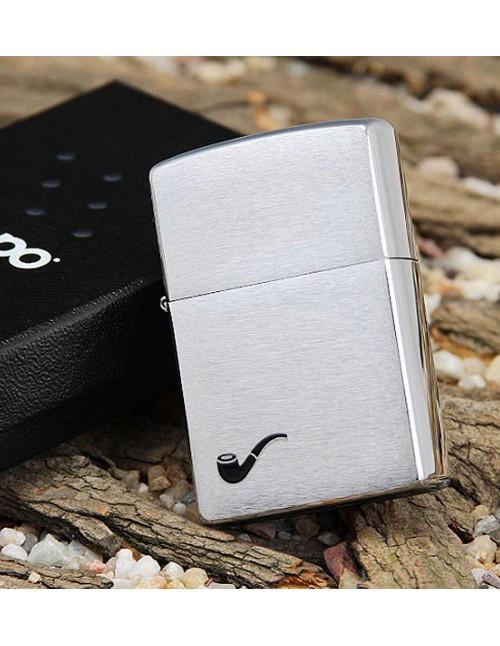 Original Zippo Lighter Brushed Chrome Pipe 200PL