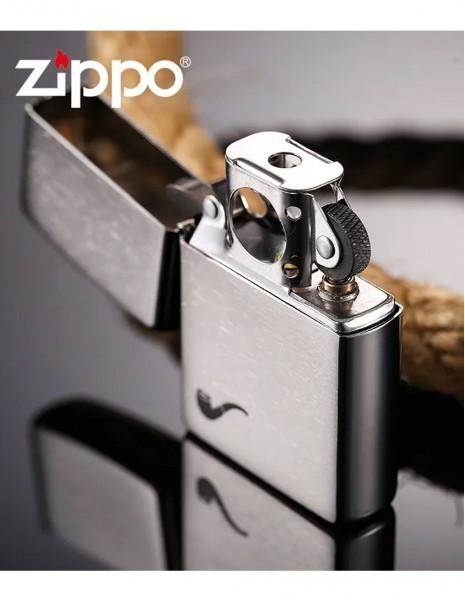 Original Zippo Upaljač Za Lulu Brushed Chrome Pipe 200PL