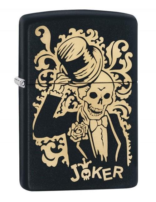 Original Zippo Upaljač Black Matte  Joker 29632