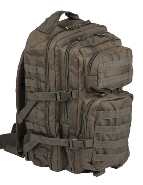 Miltec Outdoor Camping Hiking Army Backpack Assault 36L Olive Sale Discount