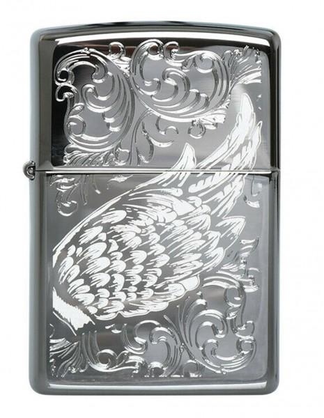 Original Zippo Upaljač Black Ice Filigree Flame Wings 29881