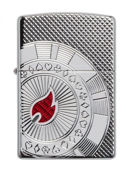 Original Zippo Upaljač  Armor Poker Chip Design 49058