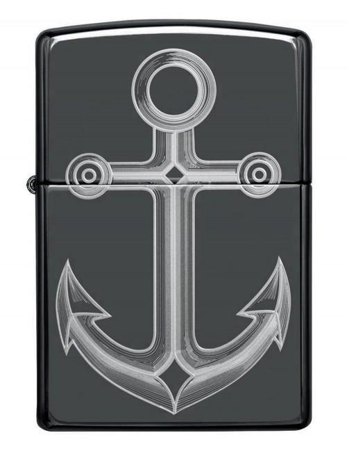 Original Zippo Upaljač Black Ice Anchor Design 49028