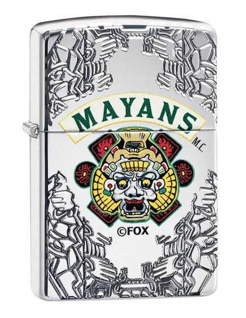Original Zippo Upaljač Armor High Polish Chrome Mayans M.C. 49032